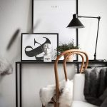 RE-CREATE THE LOOK: 12 SCANDINAVIAN GALLERY WALL IDEAS YOU'LL LOVE. Hey, Djangles. heydjangles.com. Scandinavian Gallery Wall, Scandinavian Home Office, Bentwood chair, image source: Instagram @kronfoto