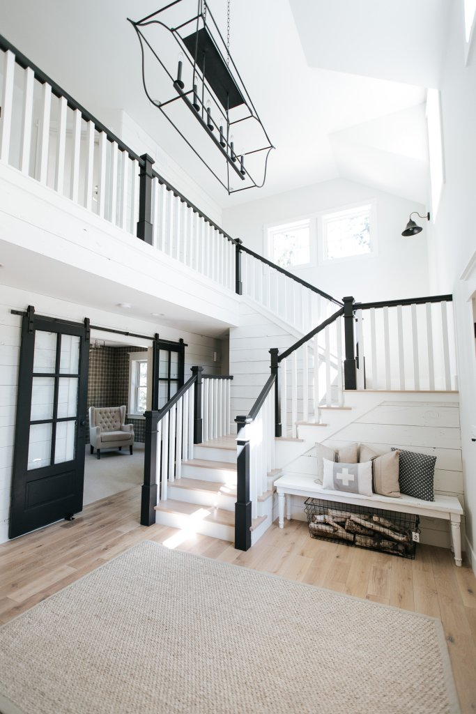 Re Create The Look 5 Modern Farmhouse Staircase Ideas You