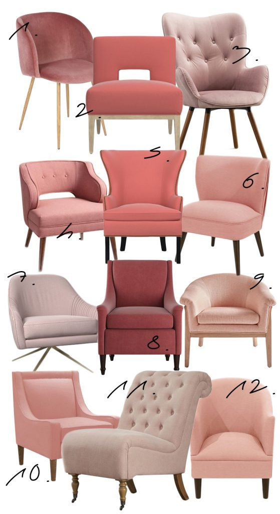 12 Blush Pink Accent Chairs with Something to Suit Every Budget - Hey, Djangles. heydjangles.com - blush pink chair, blush pink furniture, blush pink decor, tufted accent chair, velvet accent chair.