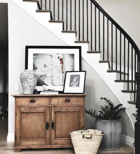 RE-CREATE THE LOOK: 5 MODERN FARMHOUSE STAIRCASE IDEAS YOU'LL LOVE, Hey, Djangles. heydjangles.com - Image: Instagram @greigedesign