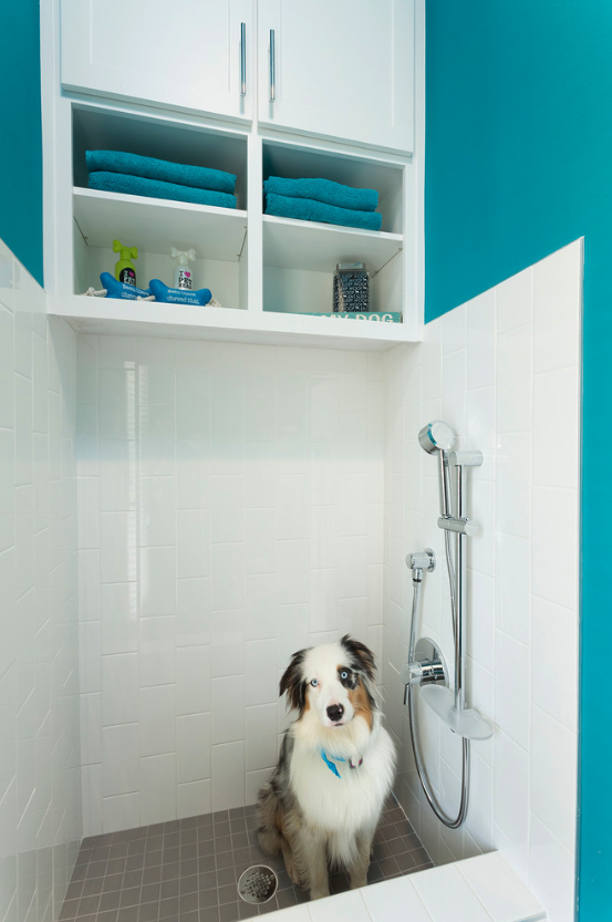 12 GENIUS MUDROOM DOG WASH STATION IDEAS FOR PET LOVERS - Hey, Djangles. heydjangles.com - Image via Mary DeWalt Design Group.