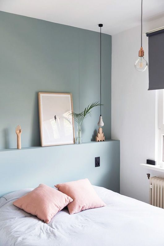 6 BEAUTIFUL GREEN-GRAY BEDROOMS YOU CAN RE-CREATE TODAY - Hey, Djangles. heydjangles.com - Scandinavian bedroom. Image: Roomin.
