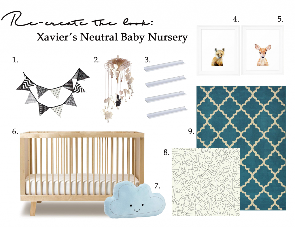 Gender-neutral baby nursery inspiration. 5 TOTALLY ACHIEVABLE GENDER-NEUTRAL BABY NURSERY LOOKS + HOW TO GET THEM - Super cute! #babynursery #nurserydecor