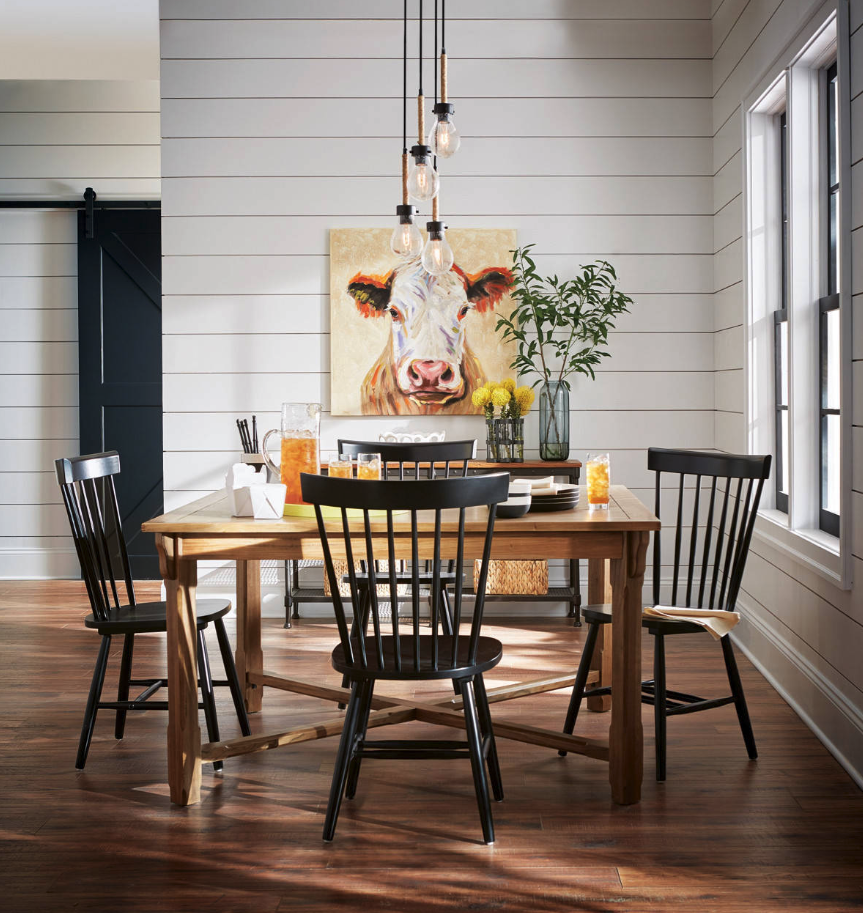Farmhouse Style Black Windsor Dining Chairs For Every
