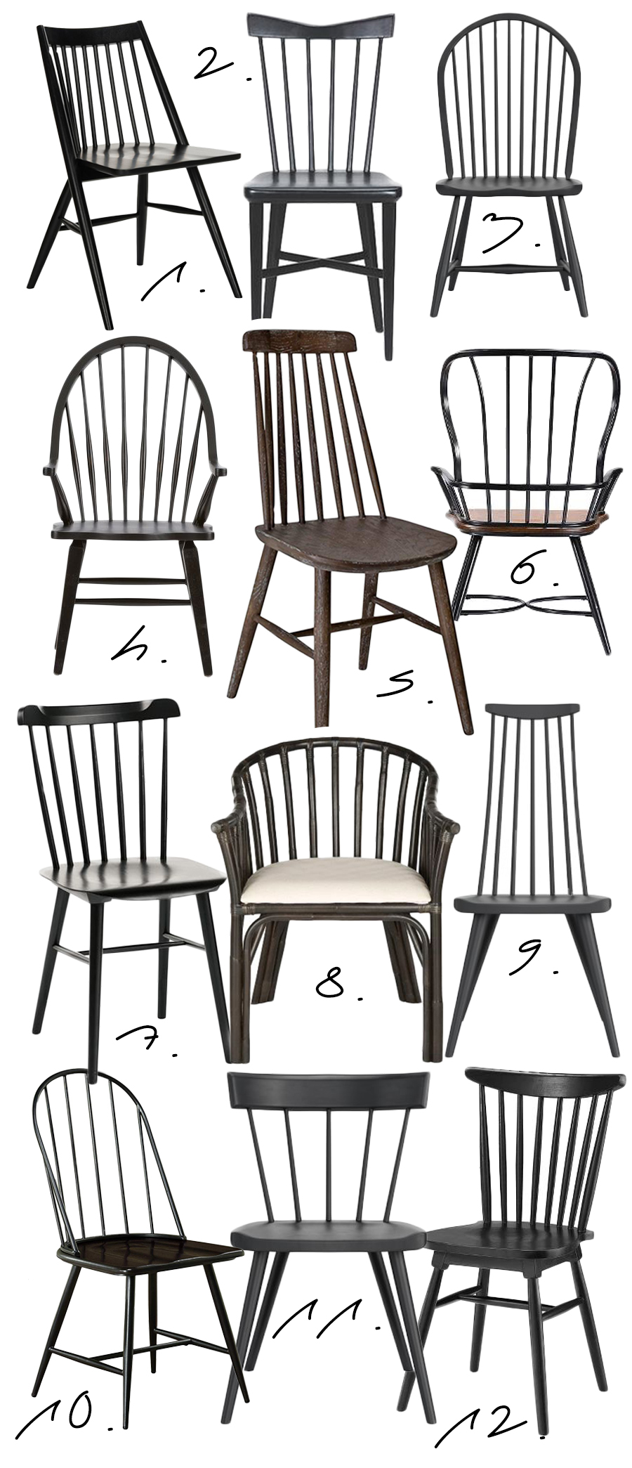 FARMHOUSE STYLE: BLACK WINDSOR DINING CHAIRS FOR EVERY BUDGET, Hey, Djangles. heydjangles.com - Farmhouse Dining Chairs, Windsor Chairs