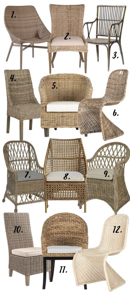 Farmhouse Style 12 Wicker Dining