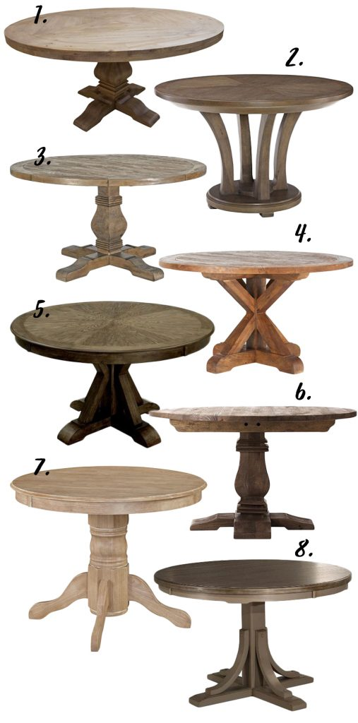 FARMHOUSE DECOR: THE RUSTIC ROUND DINING TABLE - 8 OPTIONS ...