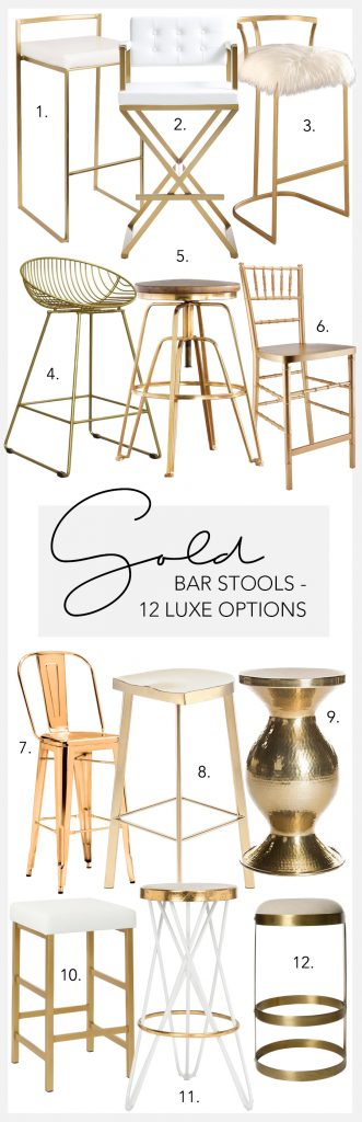 Amazing Gold Bar Stools 12 Luxe Options Hey Djangles Creativecarmelina Interior Chair Design Creativecarmelinacom
