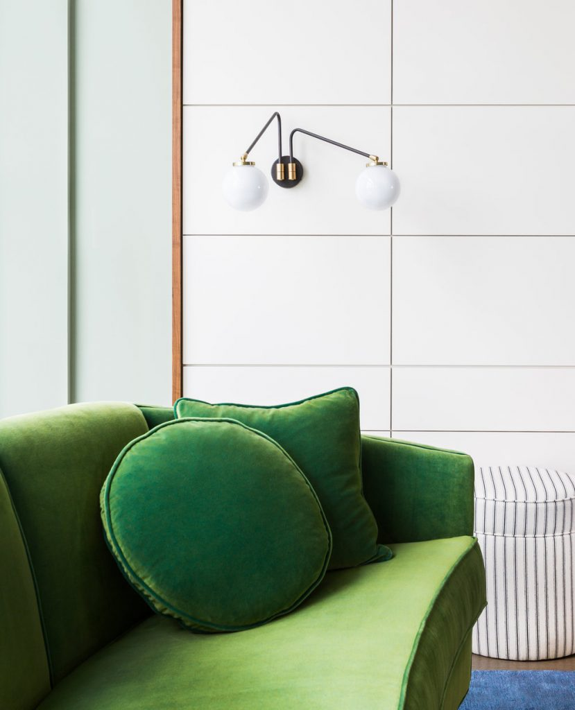 Green velvet sofa inspiration and product round-up. BOHO STYLE: THE GREEN VELVET SOFA - 6 STYLISH OPTIONS - heydjangles.com. Image via Brio Interior Design. Velvet sofa inspiration #eclecticlivingroom