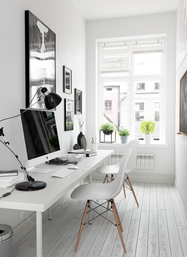 5 Minimalist Home Office Workspace Productivity Boosting