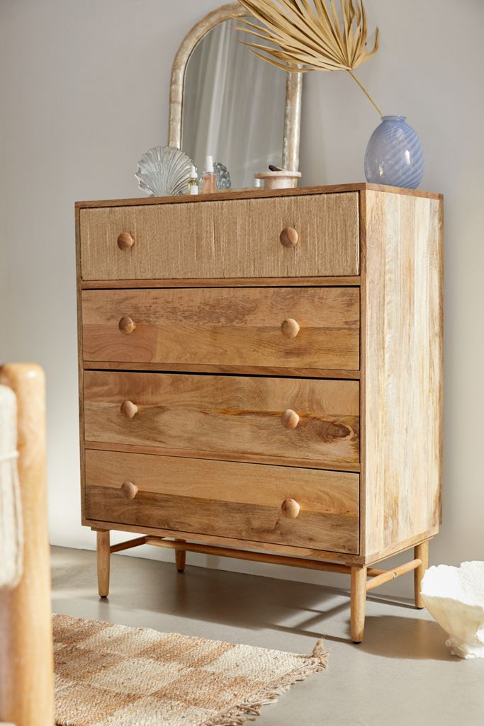 Image via Urban Outfitters, feat. 'Olivia Tall 4-Drawer Dresser'