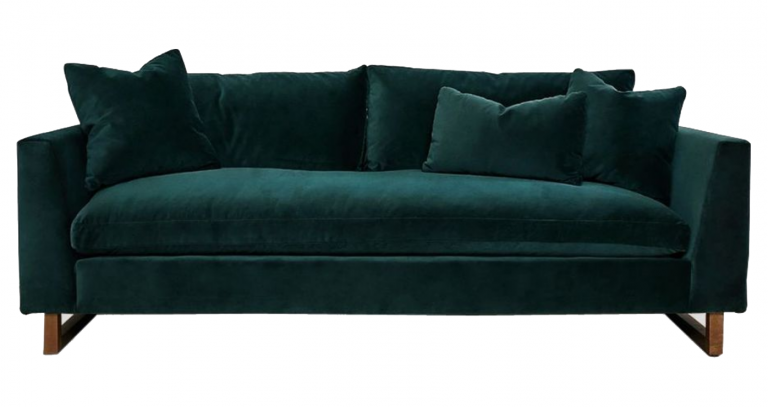 'Devon Sofa' in Green via Lulu and Georgia