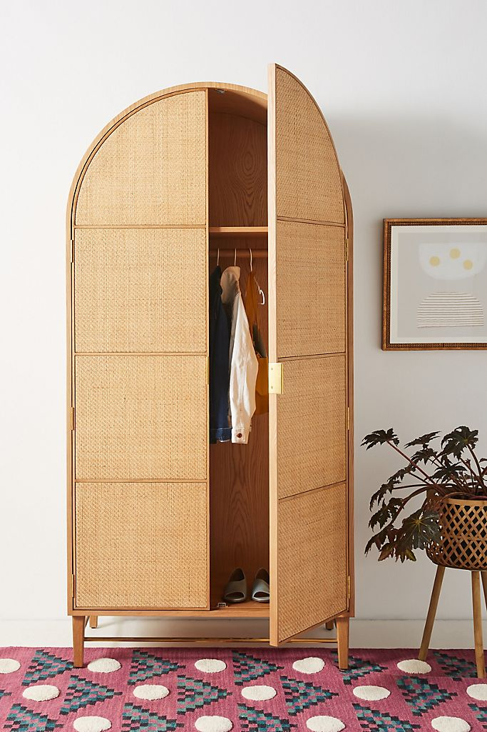 Image via Anthropologie, feat. 'Wallace Cane and Oak Armoire'
