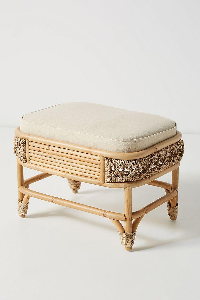 Marigny Rattan Ottoman Anthropologie