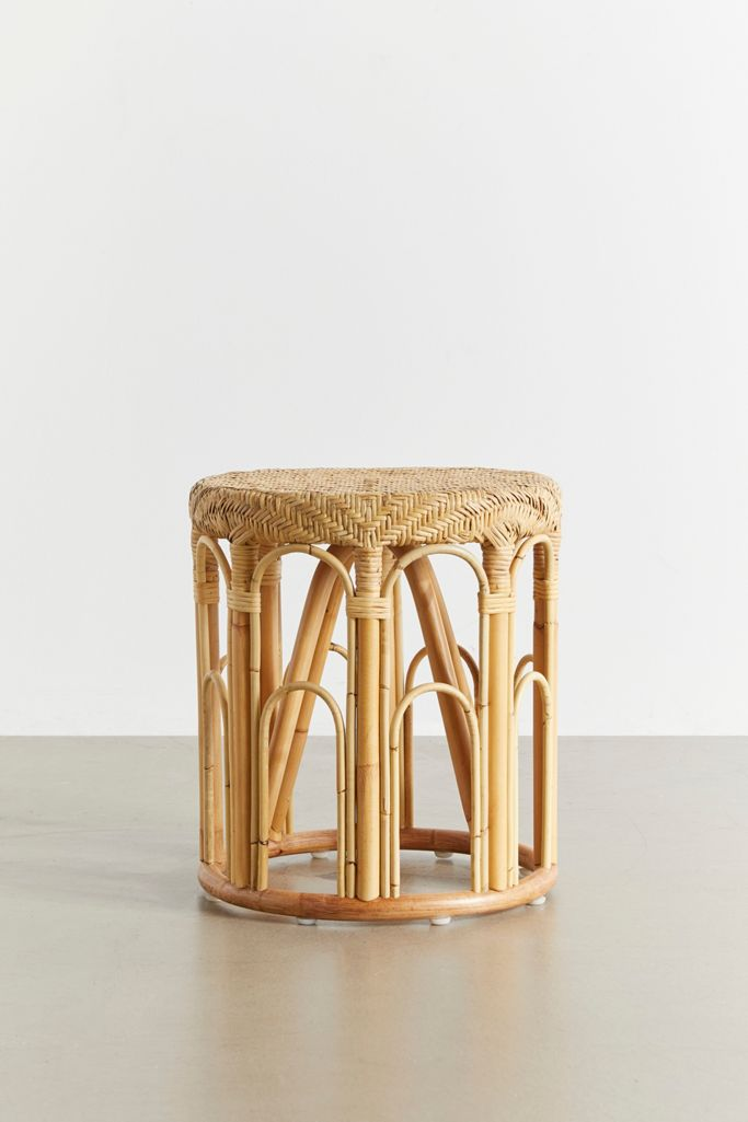 Lulu Rattan Side Table Urban Outfitters