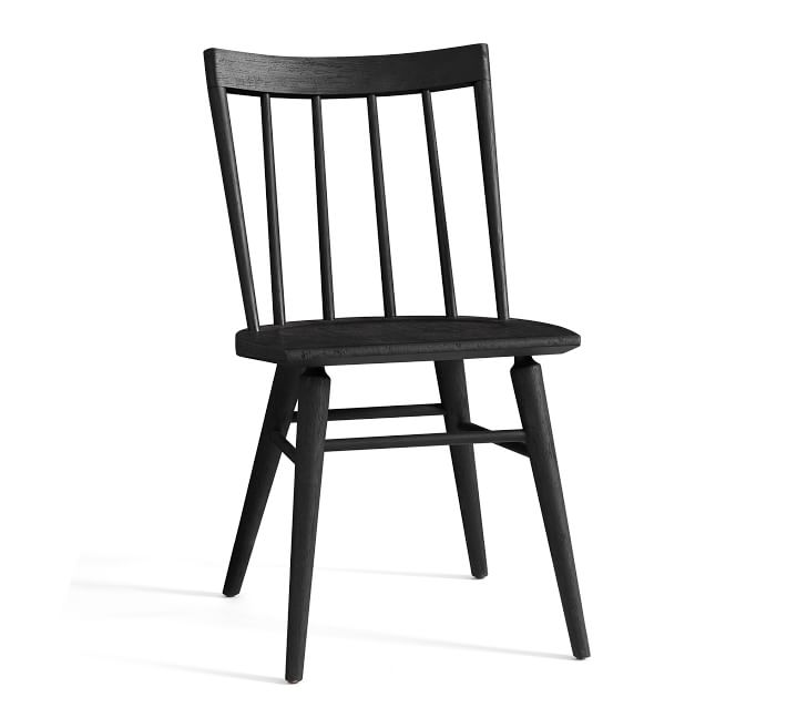 FARMHOUSE STYLE: Black Windsor Dining Chairs For Every Budget - Image via Pottery Barn