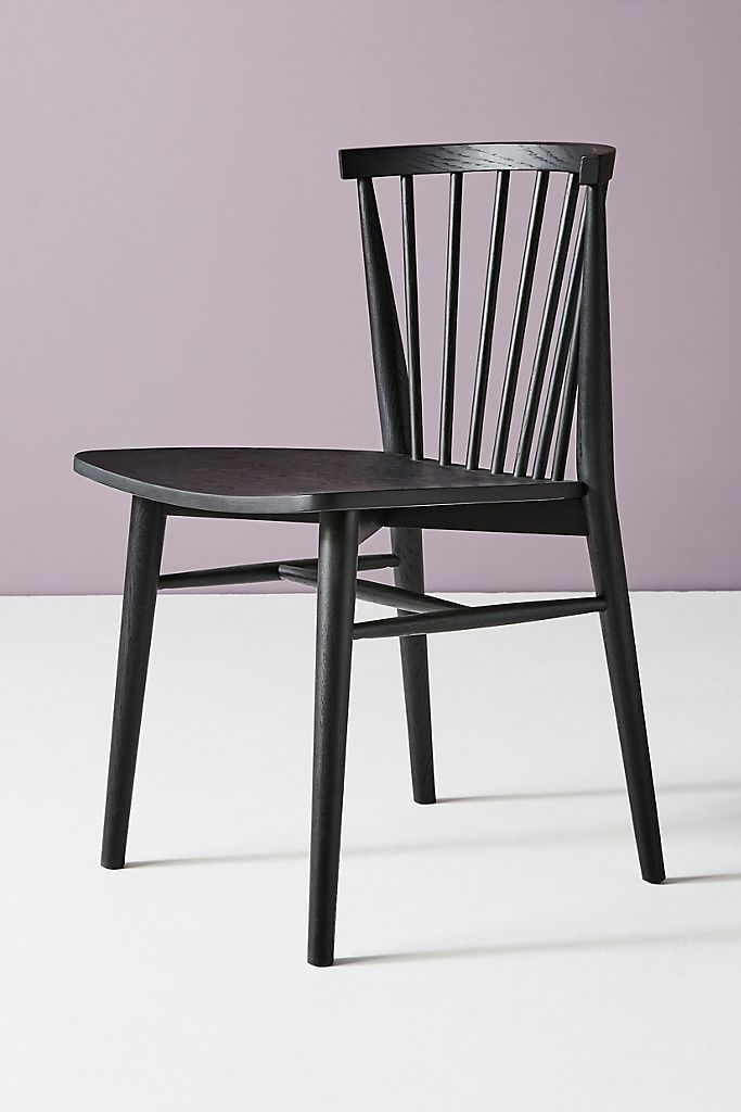 FARMHOUSE STYLE: Black Windsor Dining Chairs For Every Budget - Image via Anthropologie