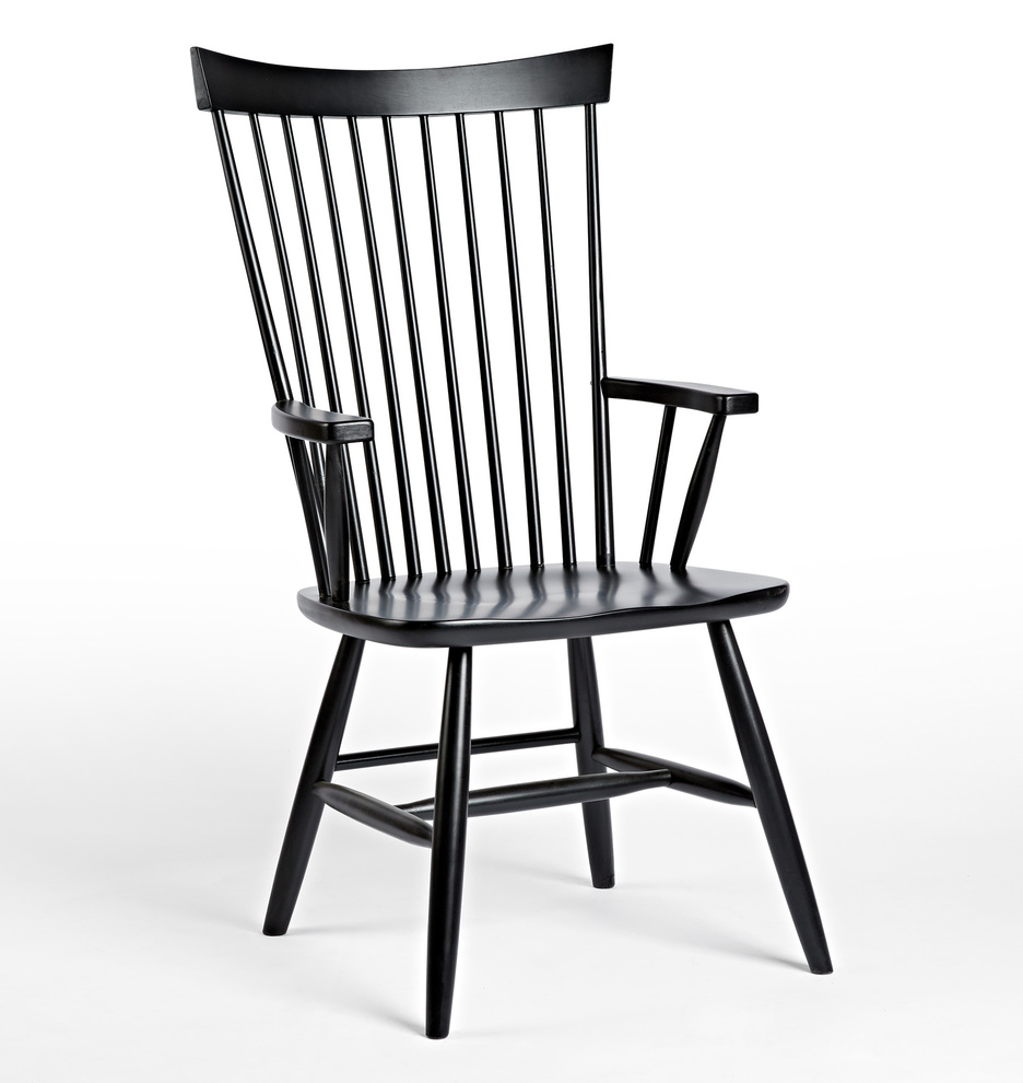 FARMHOUSE STYLE: Black Windsor Dining Chairs For Every Budget - Image via Rejuvenation