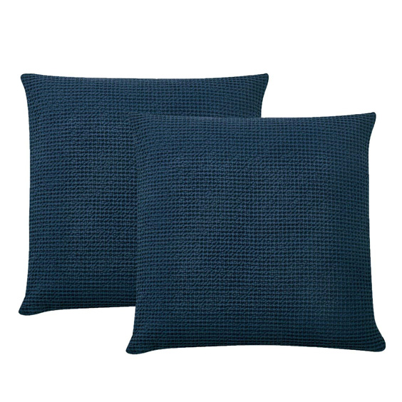 navy pillow covers, moody blue bedroom