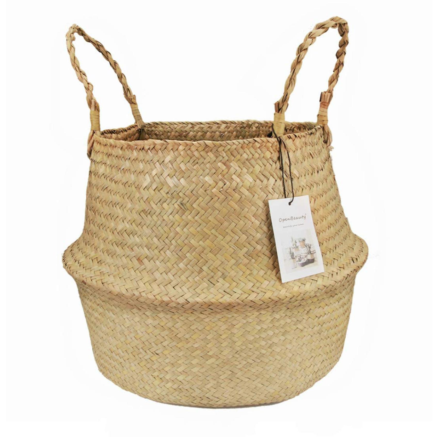 seagrass basket, boho-chic home decor