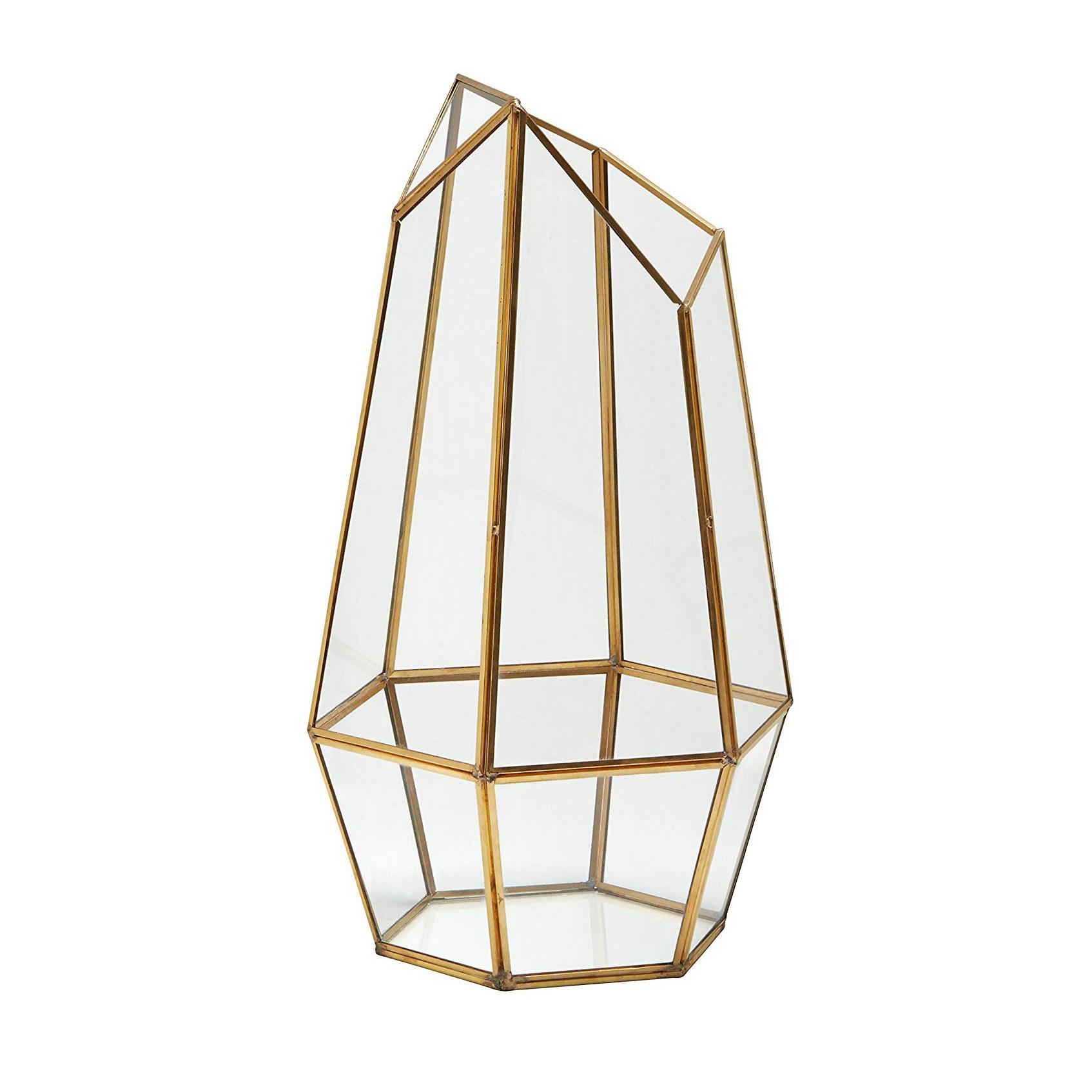 geometric glass candle holder, boho-chic home decor