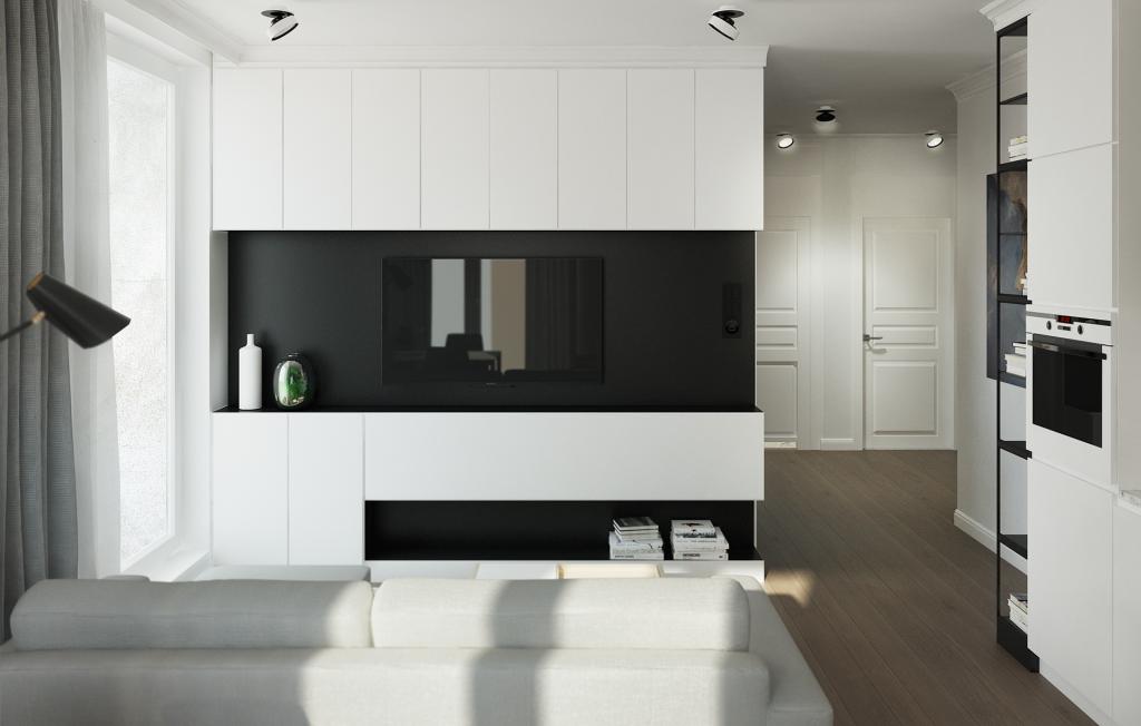 6 SIMPLE STEPS TO CREATE YOUR OWN SLEEK MODERN MINIMALIST LIVING ROOM - Hey, Djangles. Bright and light modern minimalist living room with lots of built-in storage by Karolina Krac. heydjangles.com. #minimalistliving #minimalism