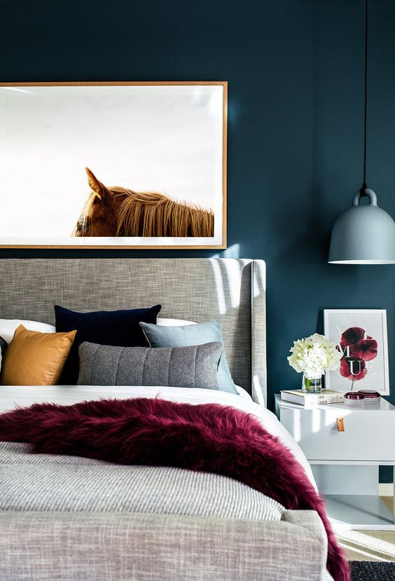 5 SWOON-WORTHY MOODY BLUE BEDROOMS YOU CAN RE-CREATE TODAY (and how-to!) - heydjangles.com - Moody blue bedroom design ideas and inspo + how to re-create the look at home, including this gorgeous design by Little Liberty, photographed by Hannah Blackmore. #colorinspo #bluebedroom #bedroomideas