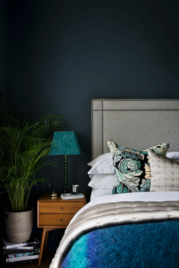 5 SWOON-WORTHY MOODY BLUE BEDROOMS YOU CAN RE-CREATE TODAY (and how-to!) - heydjangles.com - Moody blue bedroom design ideas and inspo + how to re-create the look at home, including this gorgeous room photographed by Nathalie Priem Photography. #colorinspo #bluebedroom #bedroomideas