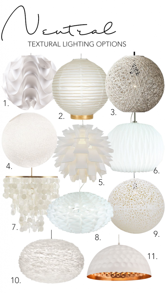 Step 4 - Add visual interest with texture and differing tones. 6 SIMPLE STEPS TO CREATE YOUR OWN SLEEK MODERN MINIMALIST LIVING ROOM - Hey, Djangles. Neutral textural lighting options, white pendant lights, spherical pendant lights, rattan pendants, feather pendant light, neutral lighting, minimalist lighting. heydjangles.com. #minimalistinspo #minimalism