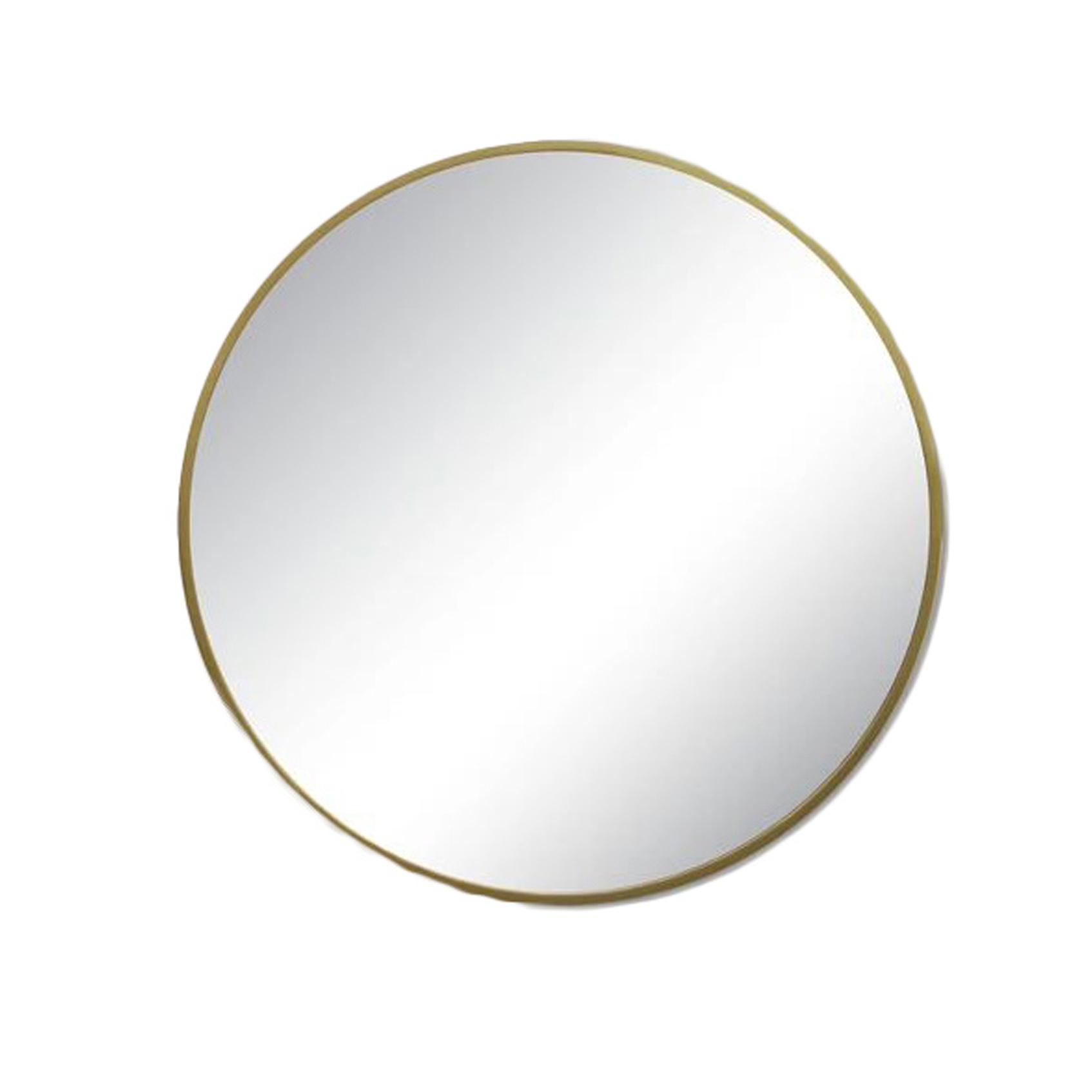 round brass mirror, boho-chic home decor