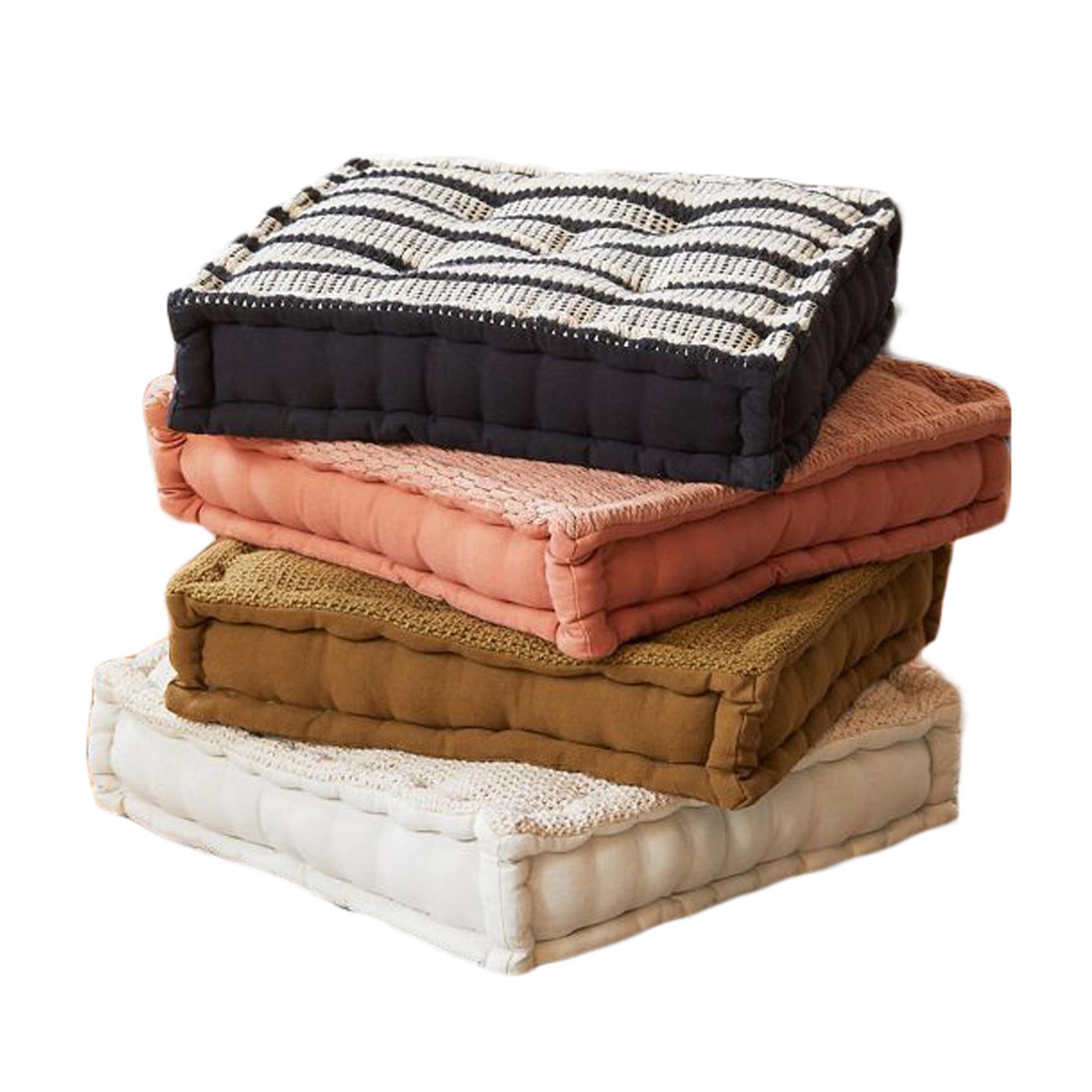 boho floor pillows, boho-chic home decor