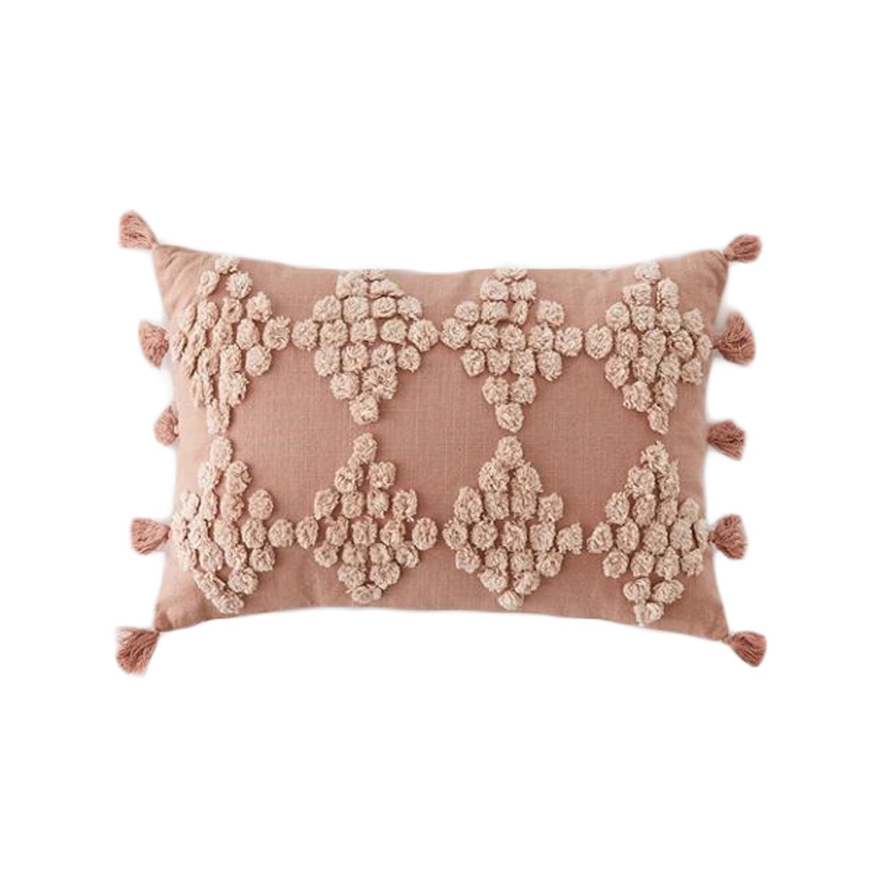 boho bolster throw pillow, boho-chic home decor