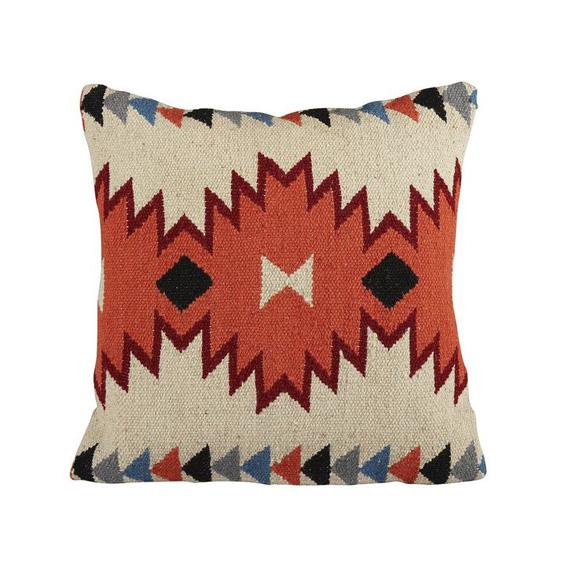 aztec throw pillow, moody blue bedroom
