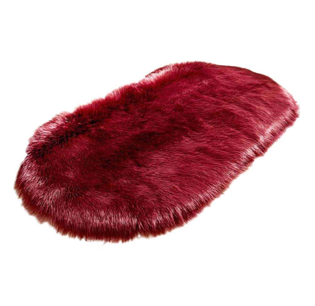 red wine faux sheepskin throw rug blanket, moody blue bedroom