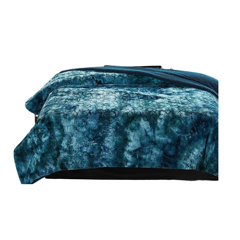 teal blanket queen, moody blue bedroom