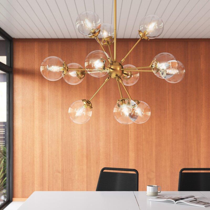 Image via All Modern feat. 'Brett 12-Light Sputnik Sphere Chandelier'