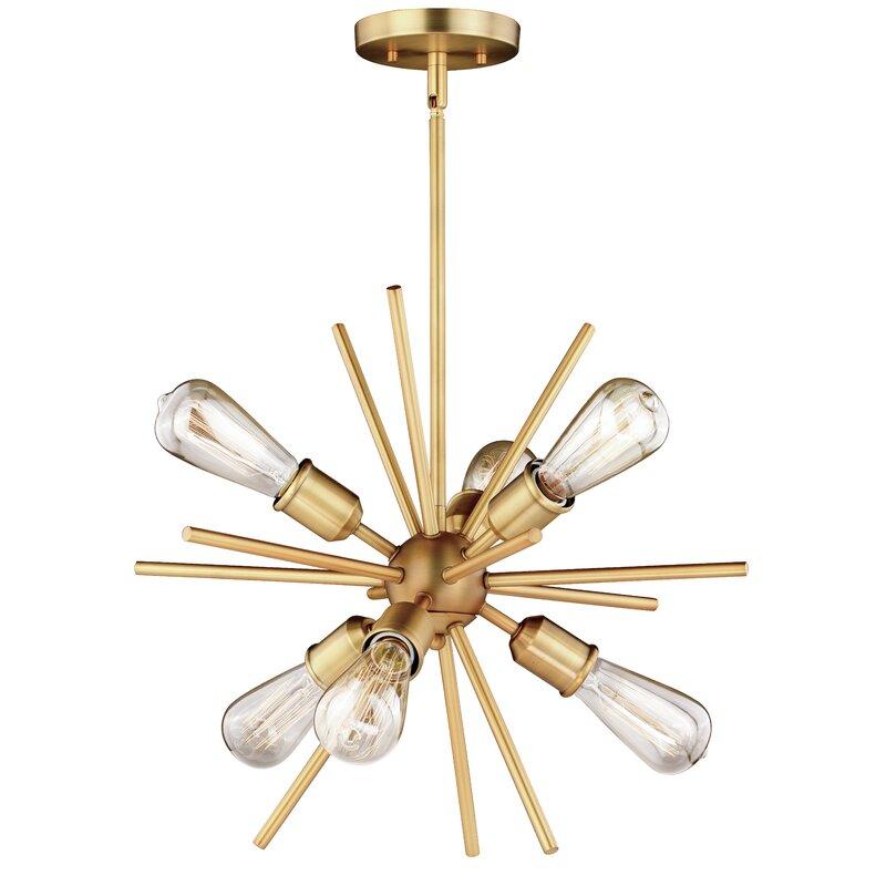 MidCentury Sputnik Chandelier via All Modern