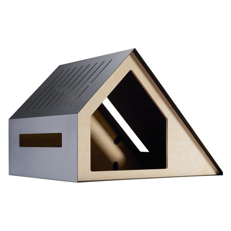 Holmquist Wood Dog House via Wayfair