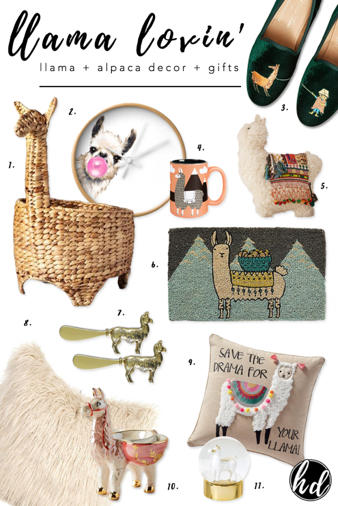LLAMA LOVIN' - heydjangles.com - The best llama themed home decor and llama themed gift ideas, eclectic decorating, boho style, for fun, llamas and alpacas.