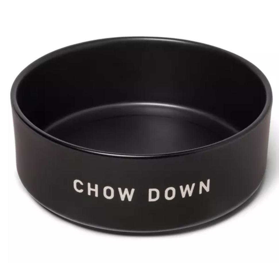 Matte Black Pet Bowl via Target