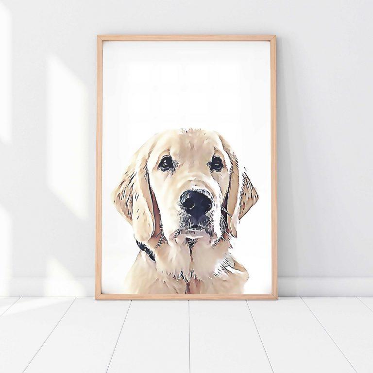 Image via Etsy / Just Artin Around, feat. Custom Pet Portrait