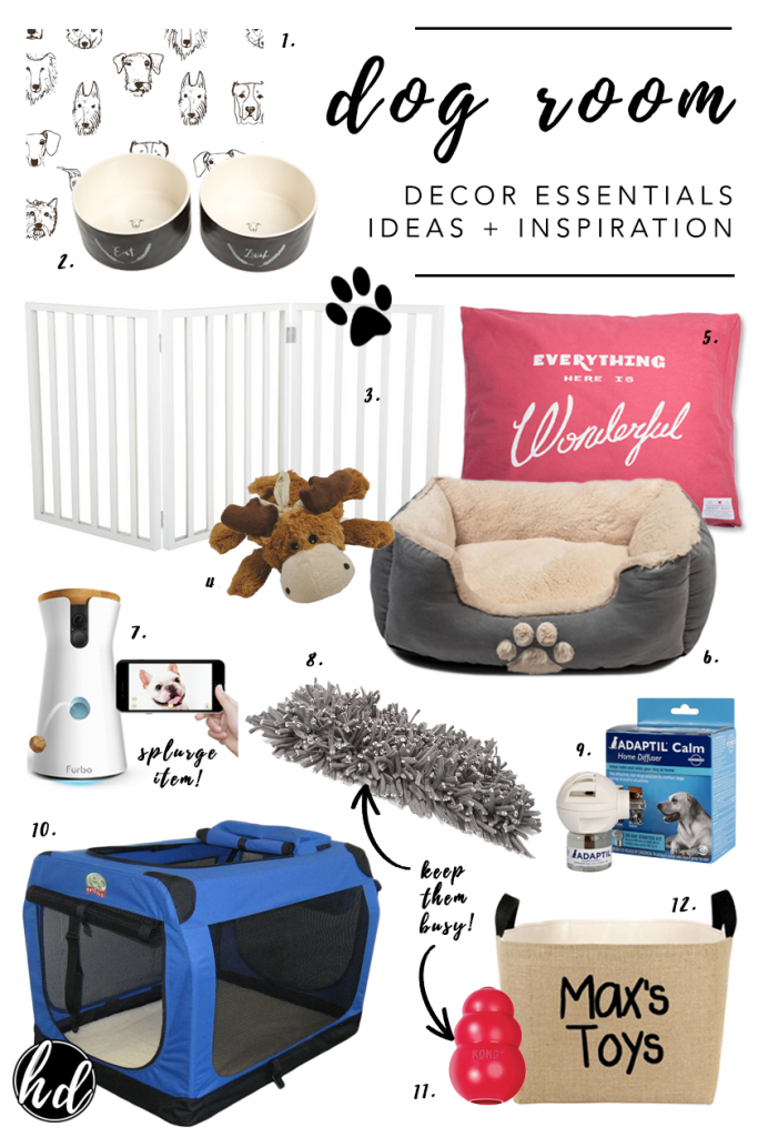 NON-NEGOTIABLE DOG ROOM DECOR ESSENTIALS – heydjangles.com – From dog bowls, pet beds, toys and tech, to pet gates, crates, dog doors and more. Check out our dog room decor wrap-up for all the best dog room decorating ideas and inspiration.
