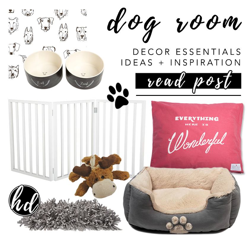 NON-NEGOTIABLE DOG ROOM DECOR ESSENTIALS – heydjangles.com – From dog bowls, pet beds, toys and tech, to pet gates, crates, dog doors and more. Check out our dog room decor wrap-up for all the best dog room decorating ideas and inspiration. heydjangles.com/dog-room-decor-essentials/