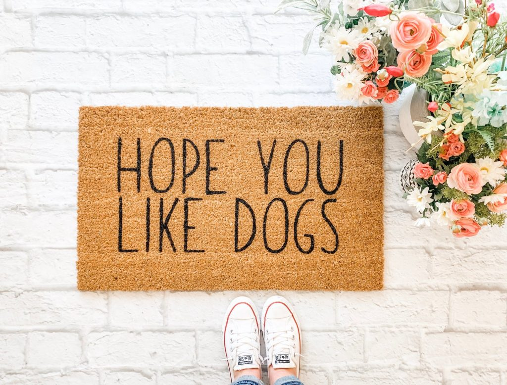 Hope You Like Dogs Door Mat via Etsy / Nine to Wine Design
