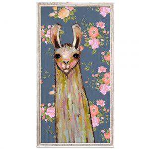 llama themed home decor, llama wall art