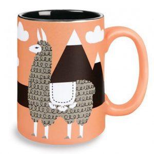 llama coffee mug, llama decor