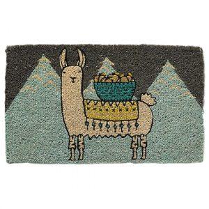 llama door mat, llama themed home decor