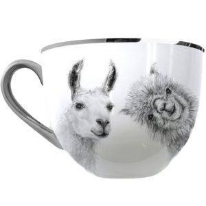 llama tea cup, llama decor