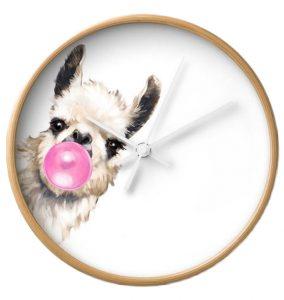llama wall clock, llama themed home decor
