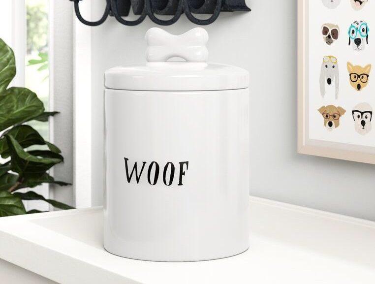'Woof' Treat Jar via Wayfair